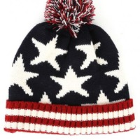 Stars and Stripes Beanie | MakeMeChic.com