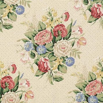 Vervain Fabric 0517803 English Bouquet Artwork
