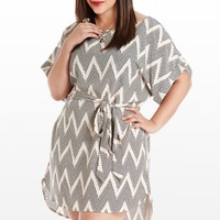 On the Dotted Line Zig-Zag Tunic - Tops - Clothing - All Categories