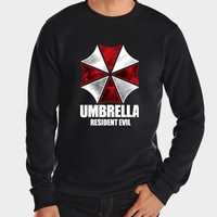 2017 new fall winter brand fleece hip hop print harajuku hoodies men fashion harajuku resident evil umbrella sweatshirt funny