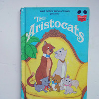 Vintage Walt Disney's The Aristocats Hardback Children's Book 1973