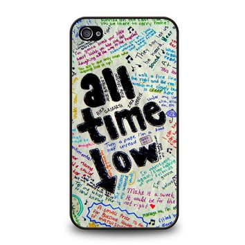 ALL TIME LOW COLOUR iPhone 4 / 4S Case Cover