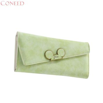 CONEED New Fashion designer Color Scrubs Long Women Wallet Ladies Mickey Purse Coin purses holders Lady Pocket Wallets j9w20x