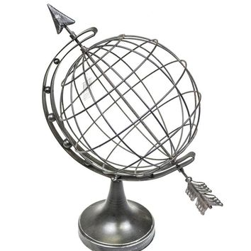 Aesthetically Charmed Iron Armillary, Gray - SageBrook Home