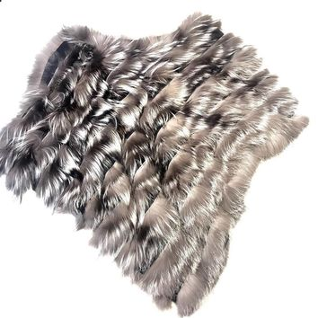 Winter Fur Ladies Fox Fur Shawl