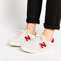 New Balance 300 White/Red Suede Trainers at asos.com