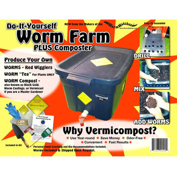 DIY Worm Farm Composting Kit with Worms - Bin Sold Separately