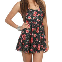 Printed Lace Skater Dress | Shop Dresses at Wet Seal