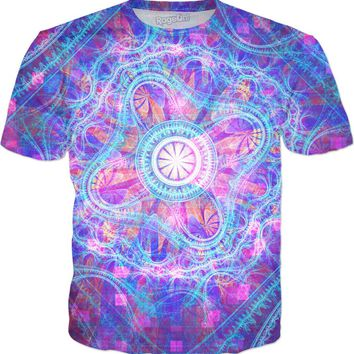 Grand Disco Metatron's Cube Pattern | Fractal Clothes | Rave & Festival Shirt