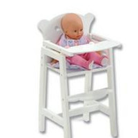 Lil Doll High Chair - White