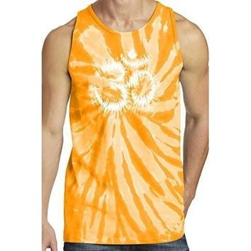 Yoga Clothing for You Mens Tie Dye OM Tank Top