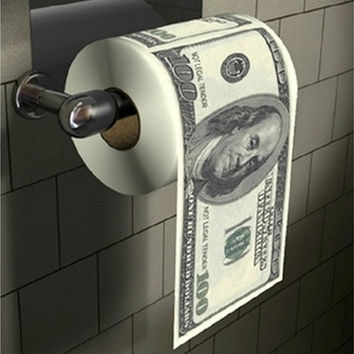 Novelty Funny Toilet Paper Dollar Bill Money Roll [8270342081]