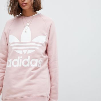 adidas Originals Trefoil Logo Sweatshirt In Pink