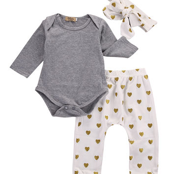 Gold Hearts 3 Piece Set
