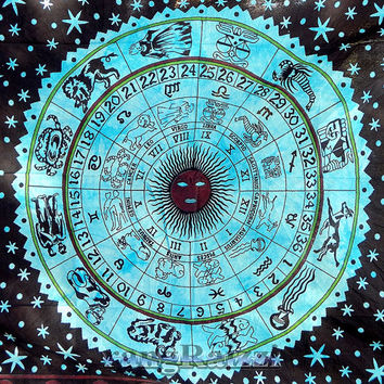 astrology hippie tapestries astro wall hanging twin cotton bedspread bohemian boho zodiac bedding throw ethnic indian decorative art
