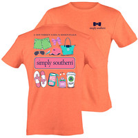 Simply Southern Preppy Girl's Essentials Salmon T-Shirt