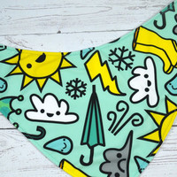 Chance Of Rain, PK (Placement varies slightly)Bandana BibInstock and ready to ship
