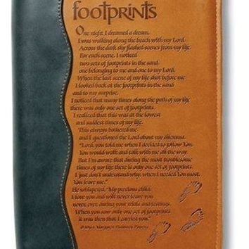 Footprints Book & Bible Cover LEA