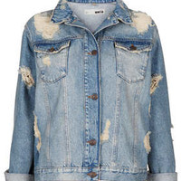 MOTO 'Devil Romance' Jacket - Denim  - Clothing