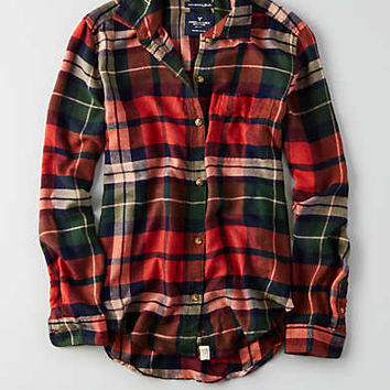 AEO Ahhhmazingly Soft Boyfriend Shirt , Orange