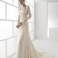 Buy Stunning Lace A-line Square Neckline Wedding Dress