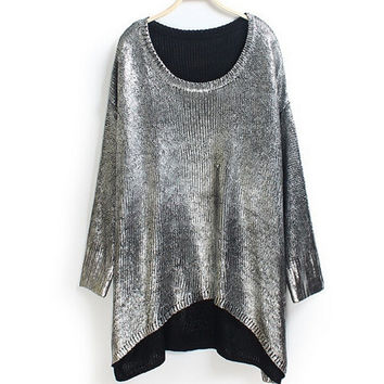Bat Style Bling Bling Sweater 2 Colors