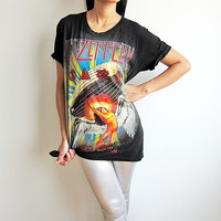 Led Zeppelin Shirt Swan Song Hard Rock Band Tshirt Men Women T-Shirts Size M