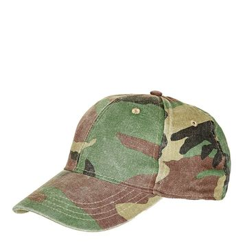 Structured Camo Cap - Topshop