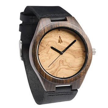 Ebony Watch // Olive Ash Plain