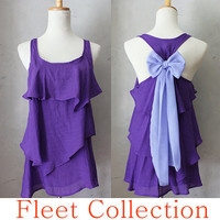 VIOLET AURA  Sleeveless Violet Purple Blouse by FleetCollection