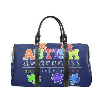 Autism Design 28 Travel Bag Black