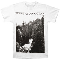 Being As An Ocean Men's  Mountains T-shirt White Rockabilia