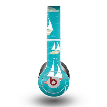 The Vector Colored Sailboats Skin for the Beats by Dre Original Solo-Solo HD Headphones