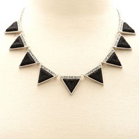 Faceted Triangle Short Necklace: Charlotte Russe