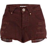 Purple denim Chelsea Girl hotpants