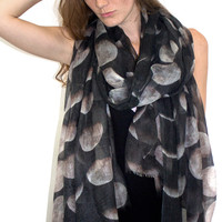 100% Cashmere Moon Phase Scarf