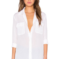 Assembly Label Unified Silk Shirt in White
