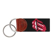 Rolling Stones Needlepoint Key Fob by Smathers & Branson