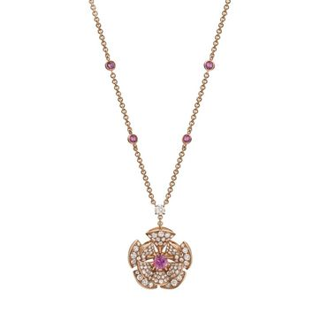 Bvlgari Rose Gold and Diamond Divas' Dream Flower Necklace | Harrods.com