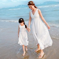 F Summer Style Family Matching Outfits Girl Dress