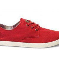Red Canvas Men's Paseos | TOMS.com