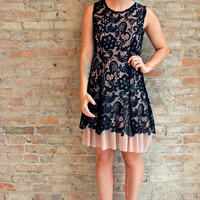 Joss Lace Dress - Black
