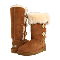 UGG Bailey Button Triplet Chestnut Sheepskin - Zappos.com Free Shipping BOTH Ways