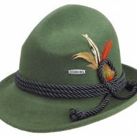 Green German Bavarian Alpine Wool Hat