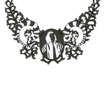Beetlejuice Sandworm Cameo Necklace