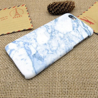 Vintage Blue White Marble Stone iPhone 7 se 5s 6 6s Plus Case Cover +Gift Box