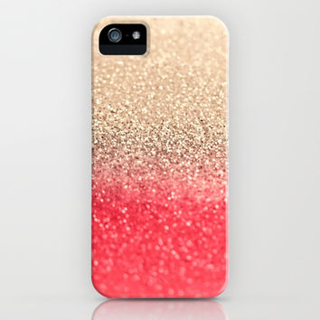 GOLD CORAL iPhone & iPod Case by Monika Strigel