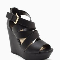 Hat Pu Thick Strappy Wedge