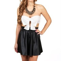 White Bow Bandeau Top