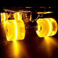 "Sunset ""Banana"" (Yellow Deck with Yellow Flare LED Wheels)"